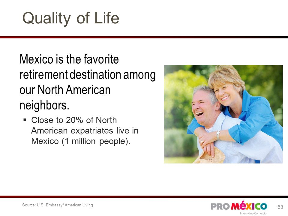 Quality of Life Mexico is the favorite retirement destination among our North American neighbors.