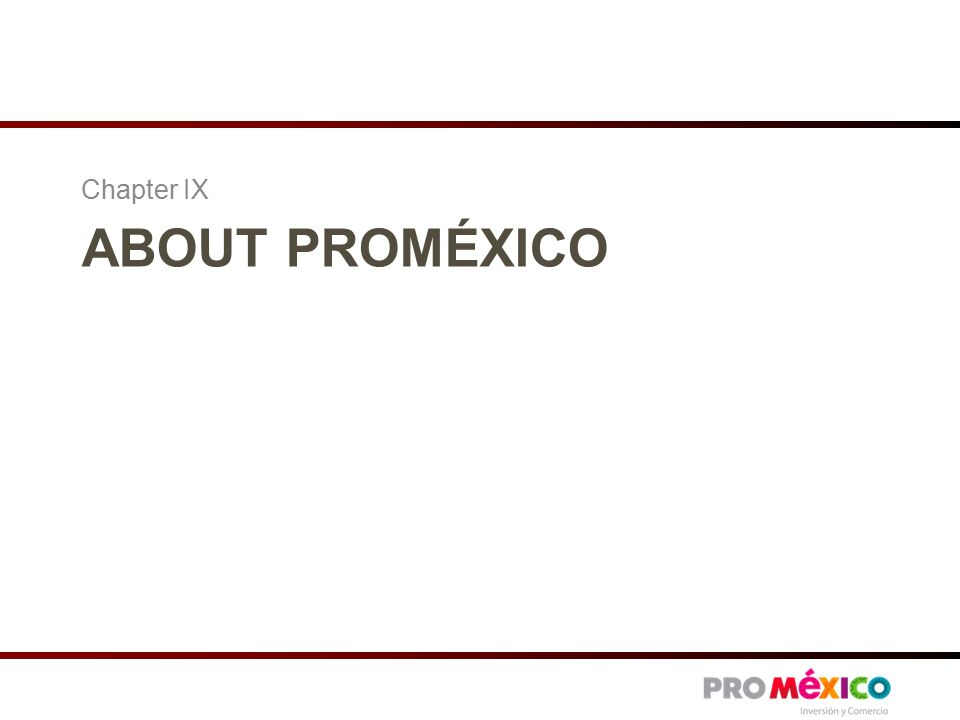 ABOUT PROMÉXICO Chapter IX