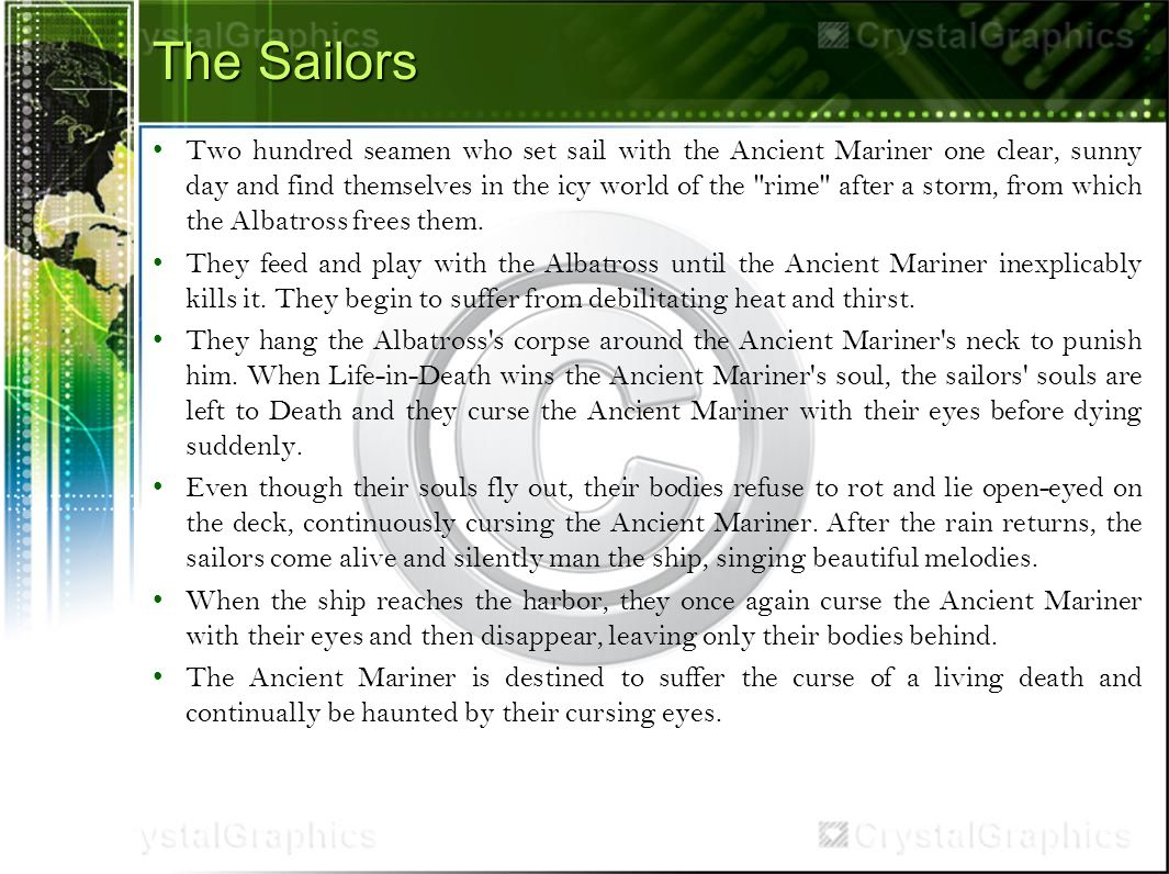 The rime of the ancient mariner samuel taylor coleridge ppt download the sailors two hundred seamen who set sail with the ancient mariner one clear sunny biocorpaavc Images