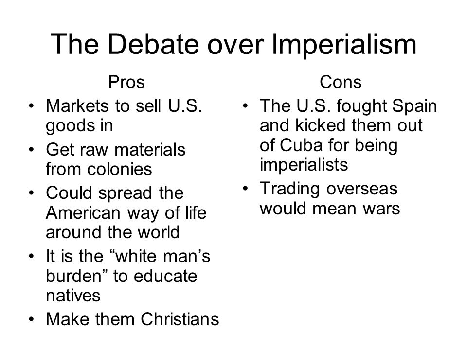 a description of the debate over american imperialism
