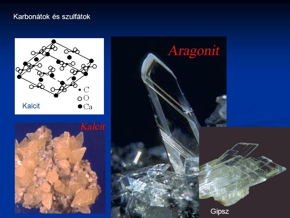 Karbonátok és szulfátok Kalcit Gipsz