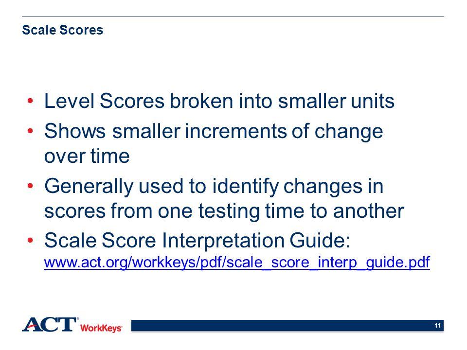 Understanding and Using WorkKeys Scores High School Students ...