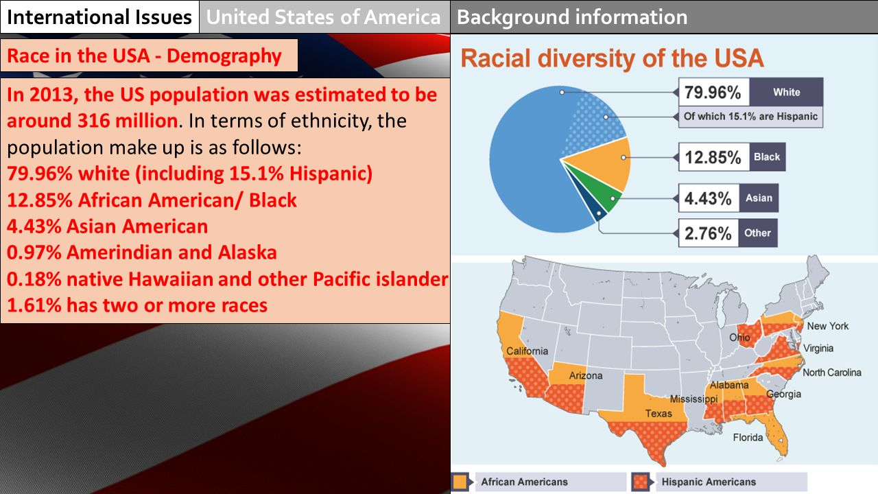 Racial makeup of us
