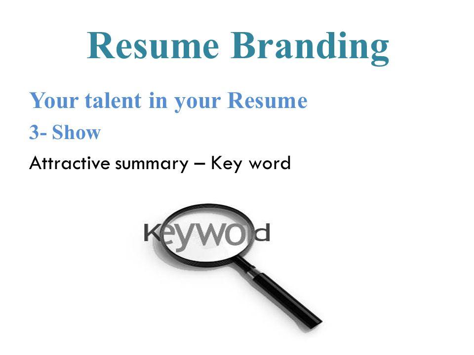 branding your resume