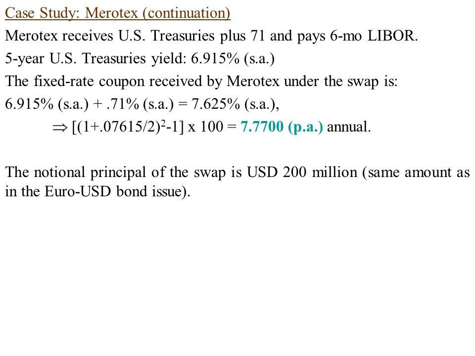 Case Study: Merotex (continuation) Merotex receives U.S.