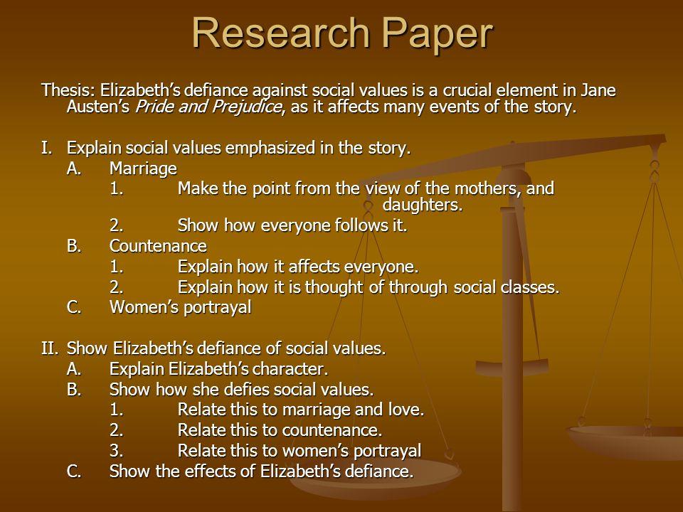 pride and prejudice essay thesis statement