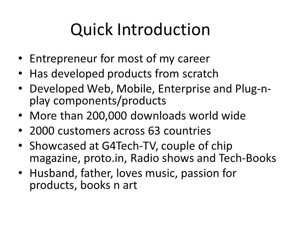 introduction entrepreneur