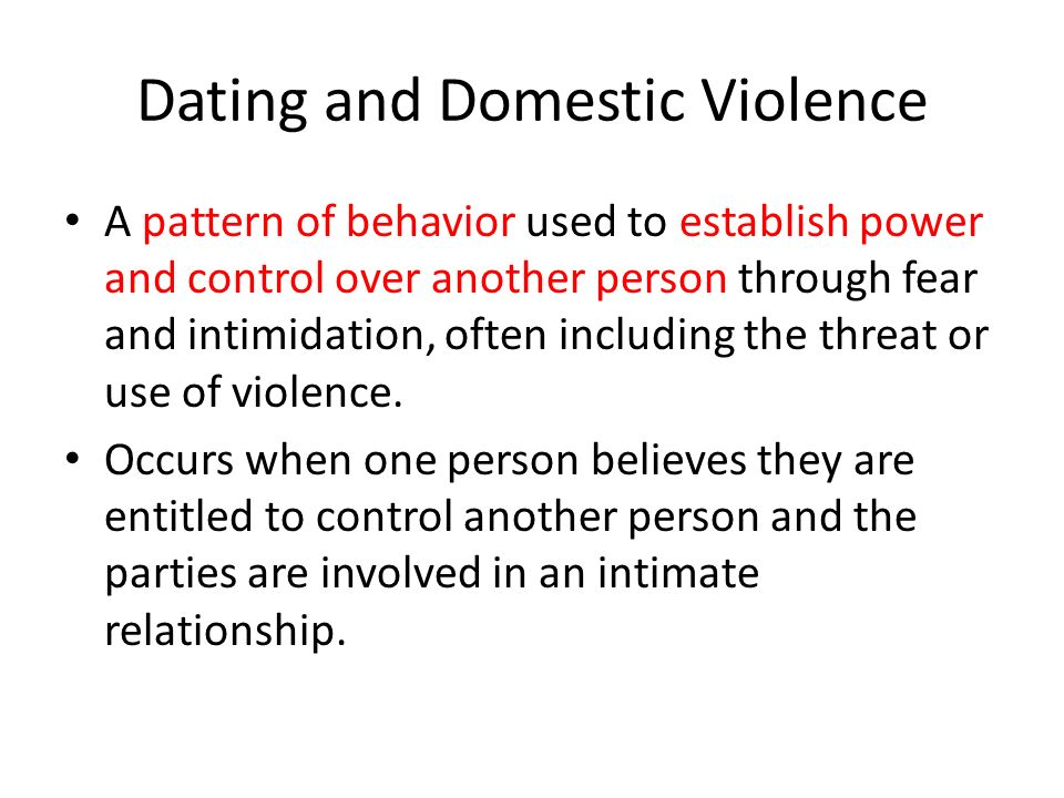 Intimate dating definition