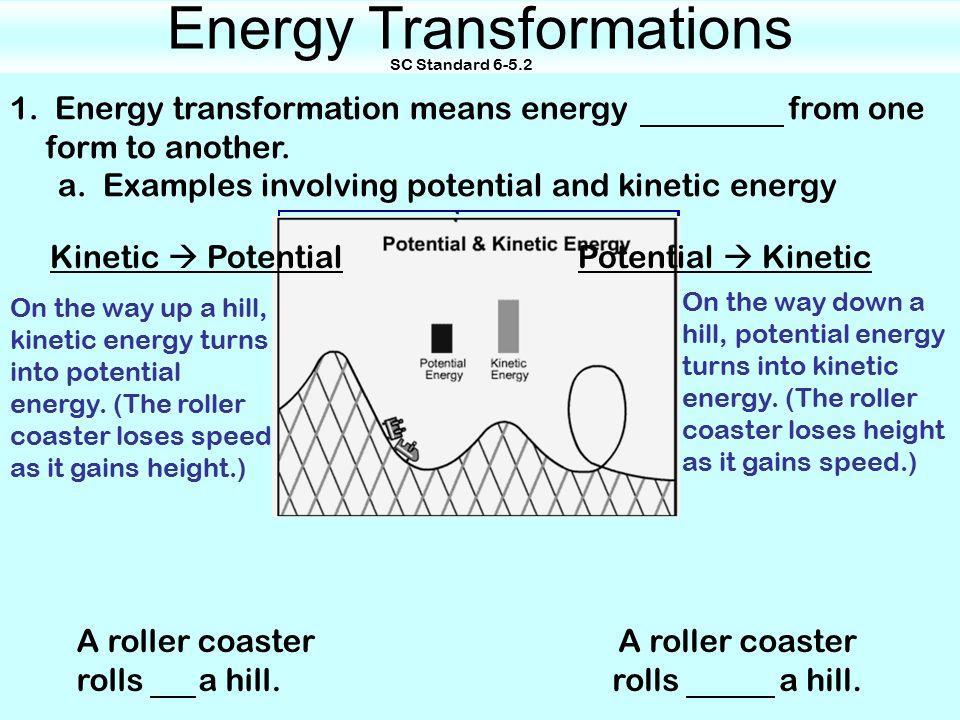 slide_1 energy transformations sc standard up a roller coaster rolls up a
