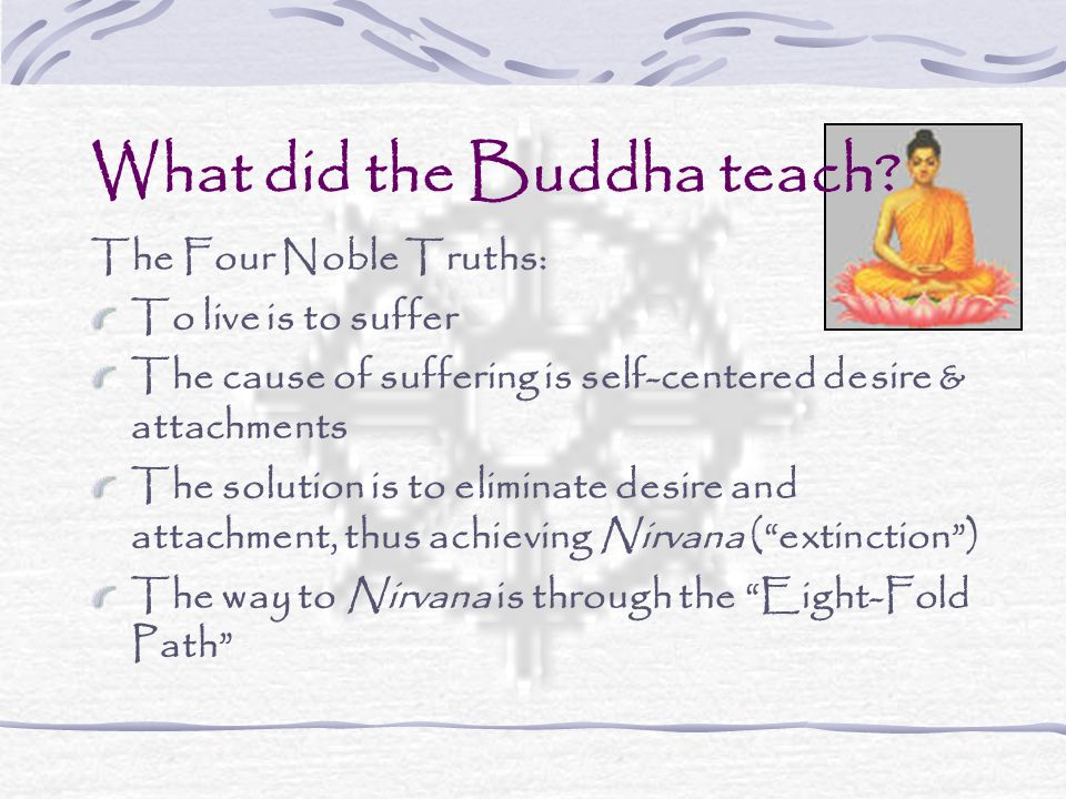What did the Buddha teach.