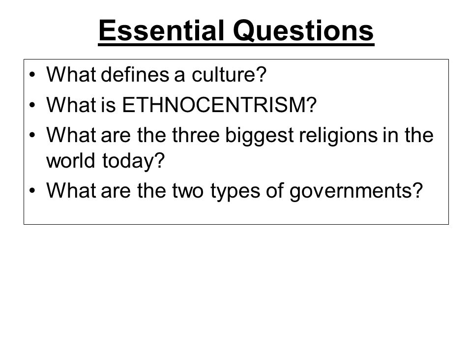 INTRODUCTION To World Cultures Unit Africa Lesson World - Three biggest religions
