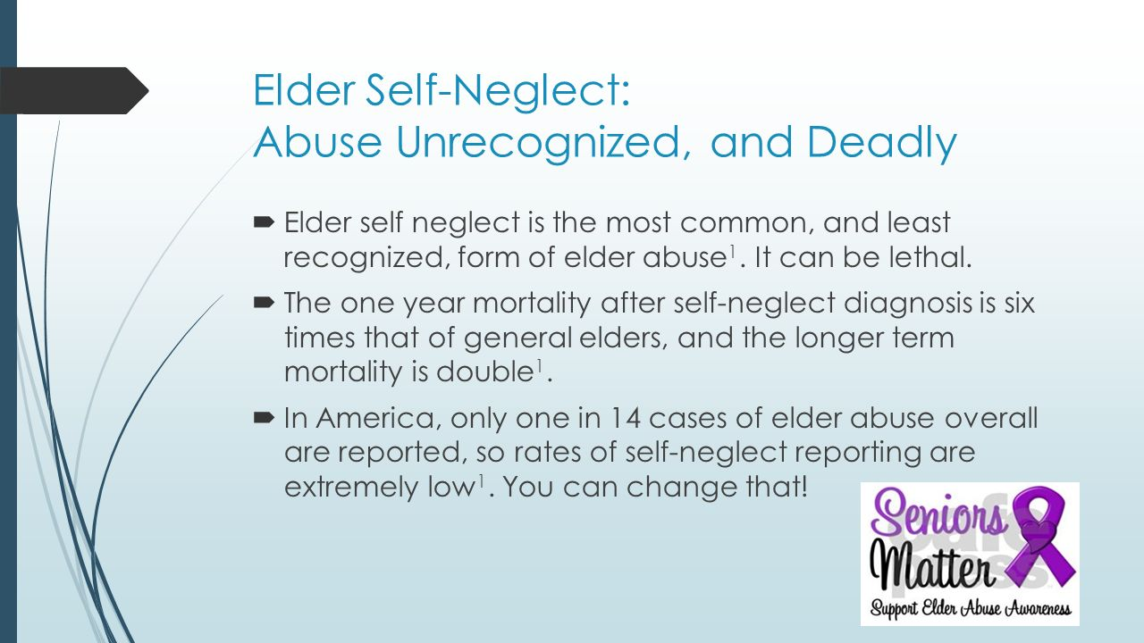 Dementia and Elder Self-Neglect: Challenges for Community Teams ...