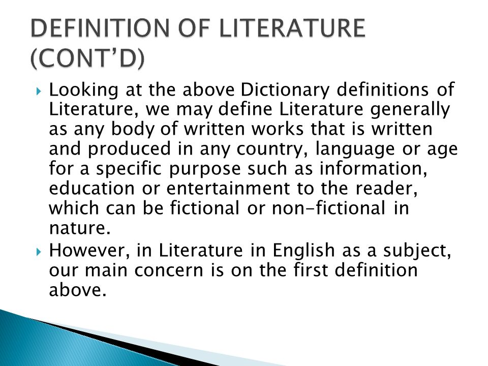 definitions of literary terms