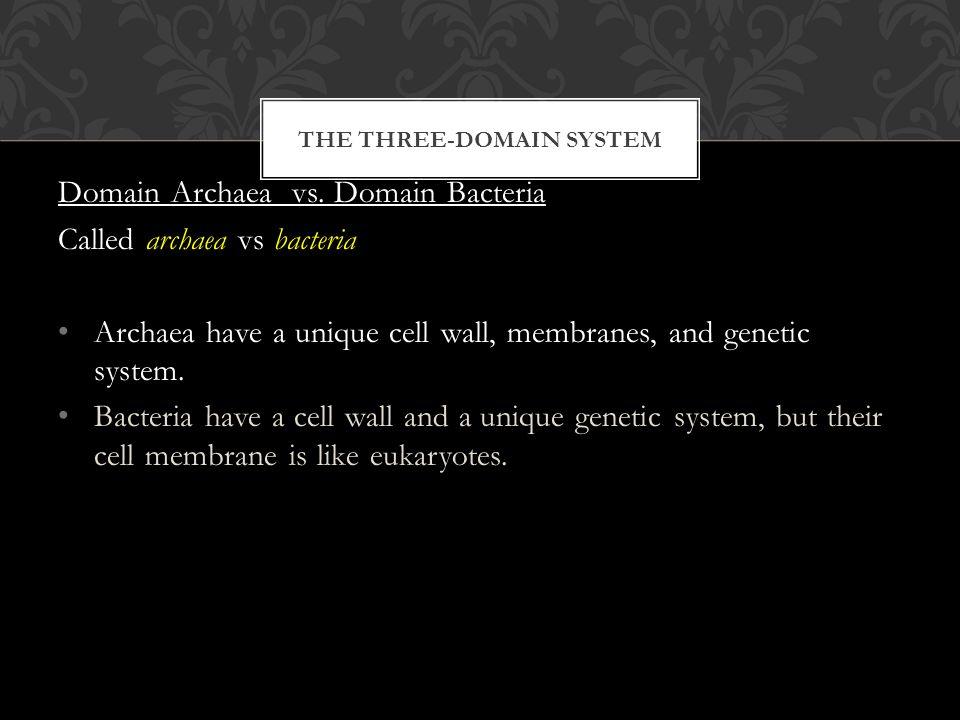 THE THREE-DOMAIN SYSTEM Domain Archaea vs.
