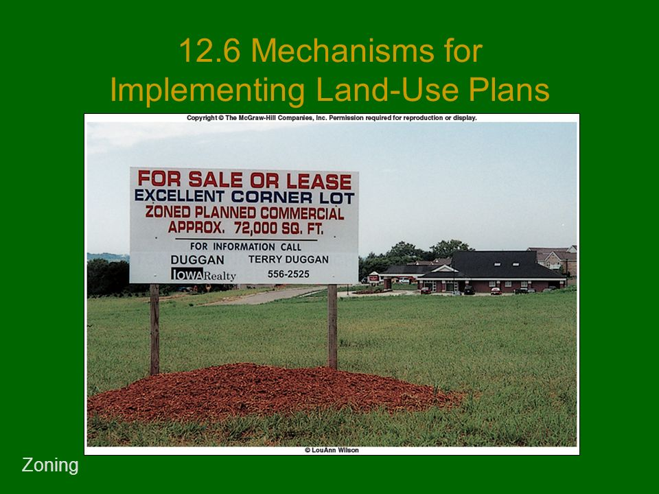 12.6 Mechanisms for Implementing Land-Use Plans Zoning
