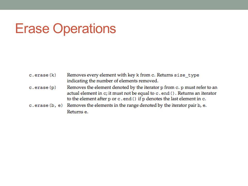 Erase Operations