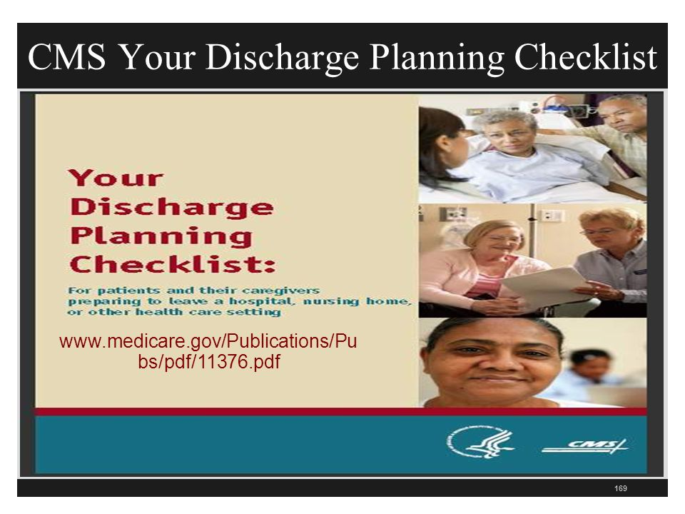 CMS Your Discharge Planning Checklist bs/pdf/11376.pdf