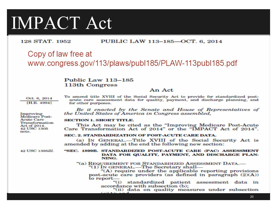 IMPACT Act 20 Copy of law free at