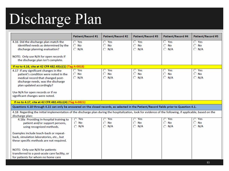 Discharge Plan 93