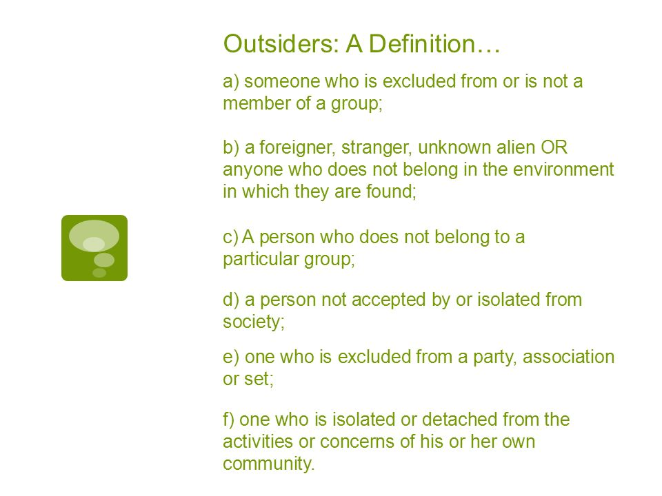 6 Outsiders: A Definitionu2026 ...
