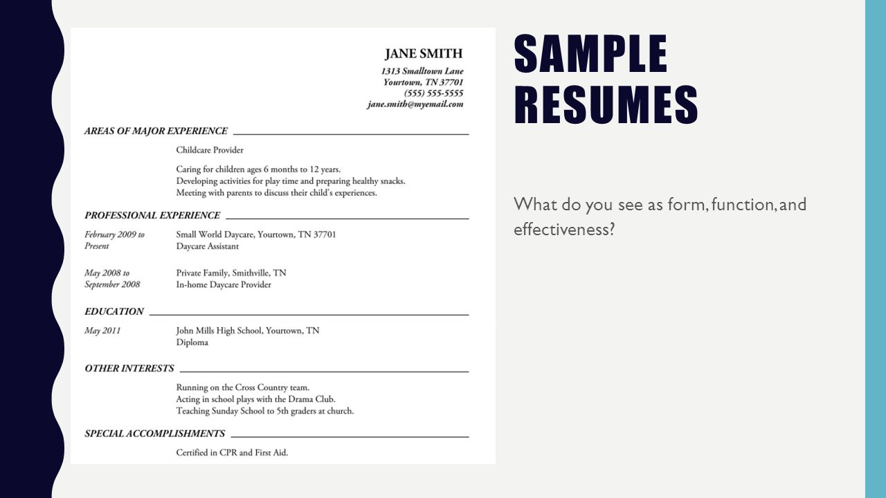 resumes and cover letters what is a resume type of genre writing 5 sample resumes what do you see as form function and effectiveness