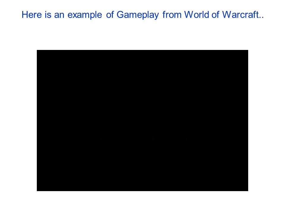 Here is an example of Gameplay from World of Warcraft..