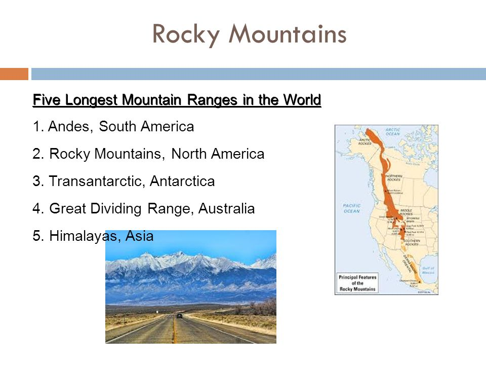 USA LANDFORMS The United States Is HUGE Rocky Mountains Five - Mountain ranges of united states