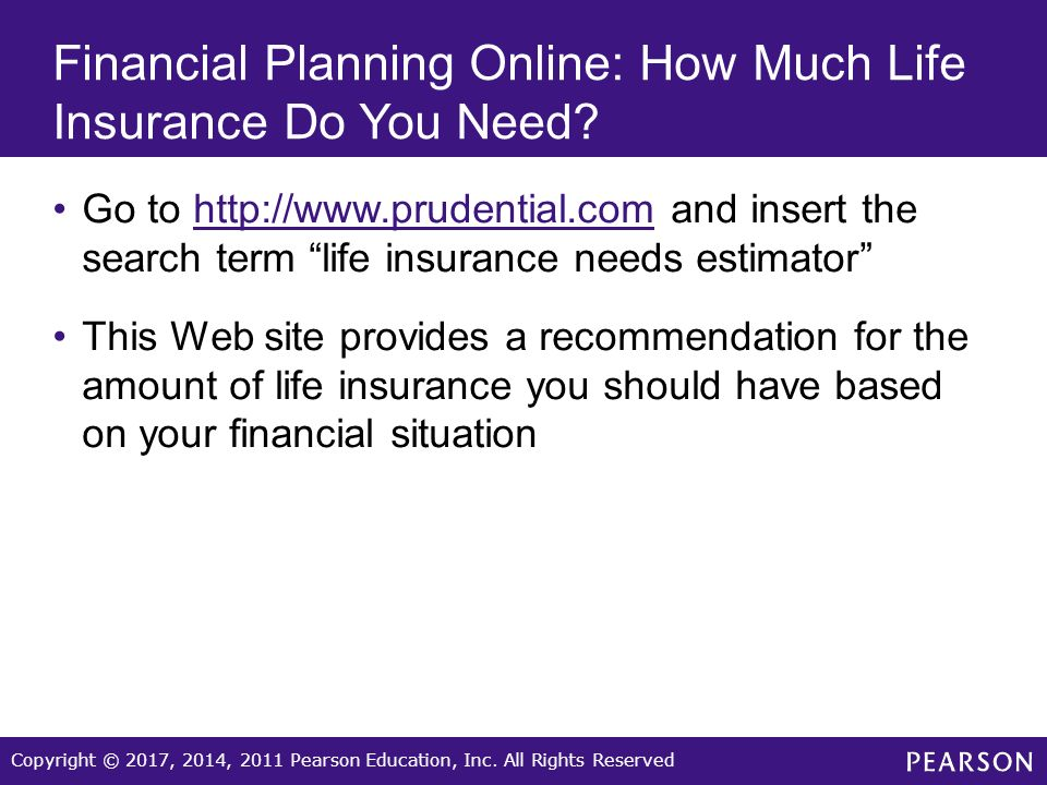 Prudential Term Life Insurance Quotes Online Interesting Copyright © 2017 2014 2011 Pearson Education Incall Rights
