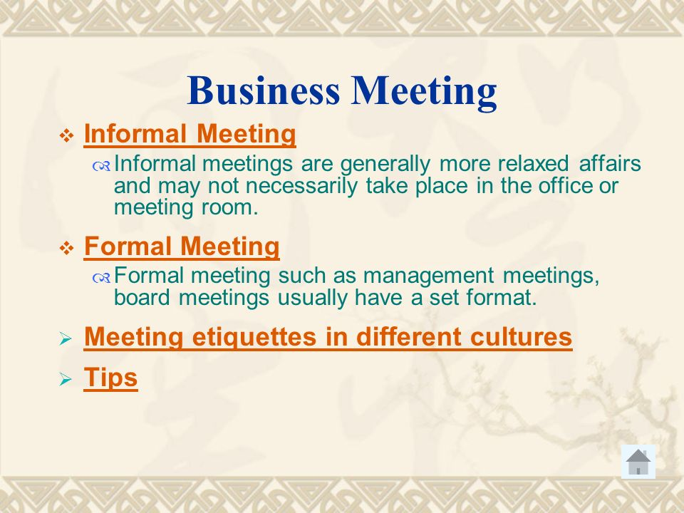 Etiquette in business negotiation contents greeting and seeing 22 business meeting etiquette m4hsunfo Gallery