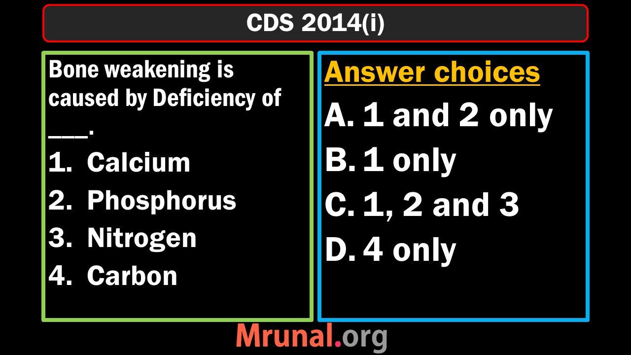 Bone weakening is caused by Deficiency of ___.