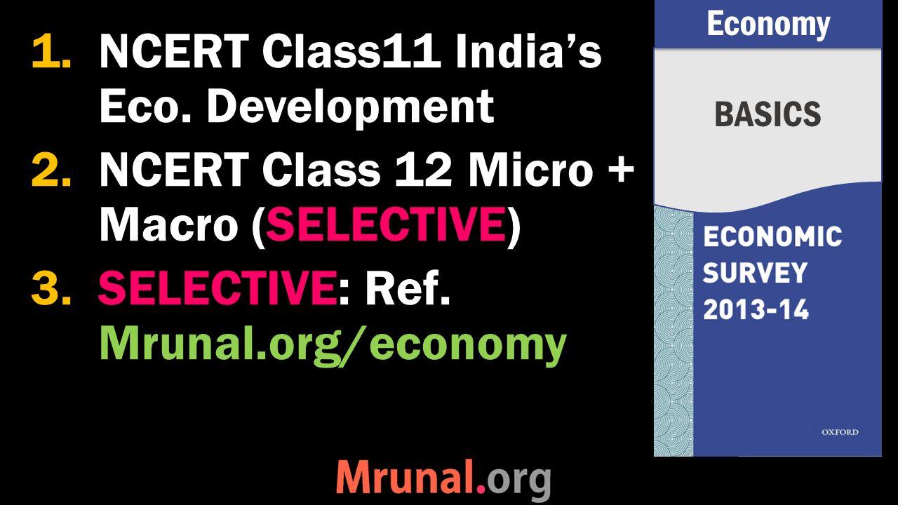 1.NCERT Class11 India's Eco.