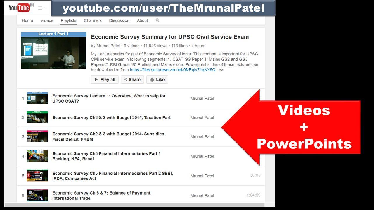 Videos + PowerPoints Videos + PowerPoints youtube.com/user/TheMrunalPatel