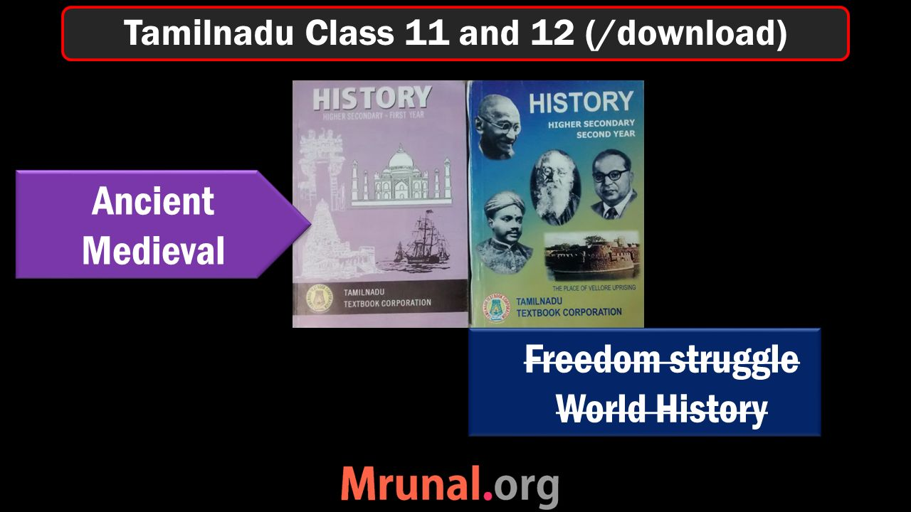 Tamilnadu Class 11 and 12 (/download) Ancient Medieval Ancient Medieval Freedom struggle World History Freedom struggle World History