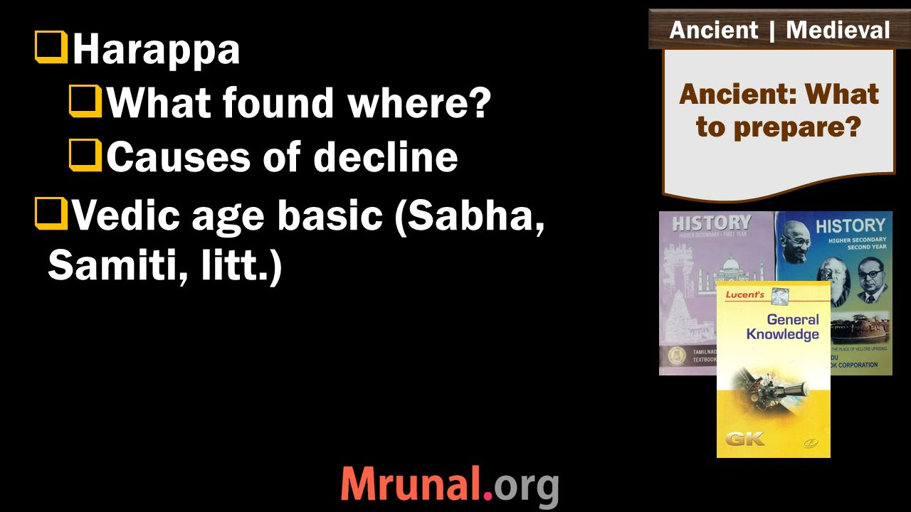 Ancient | Medieval  Harappa  What found where.