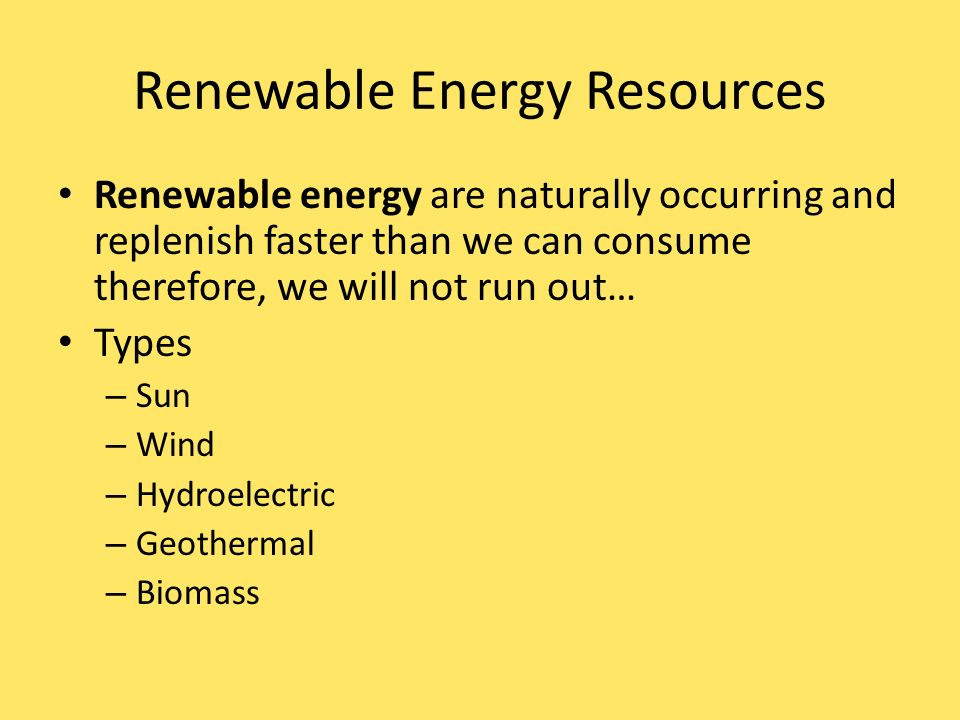 Energy Other energy sources on Earth: - Geothermal: heat energy ...