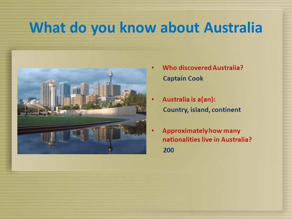 What do you know about Australia Who discovered Australia.
