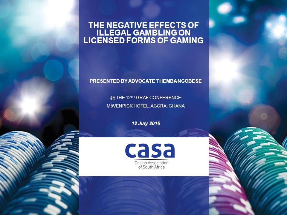 Effects of illegal gambling casino ball