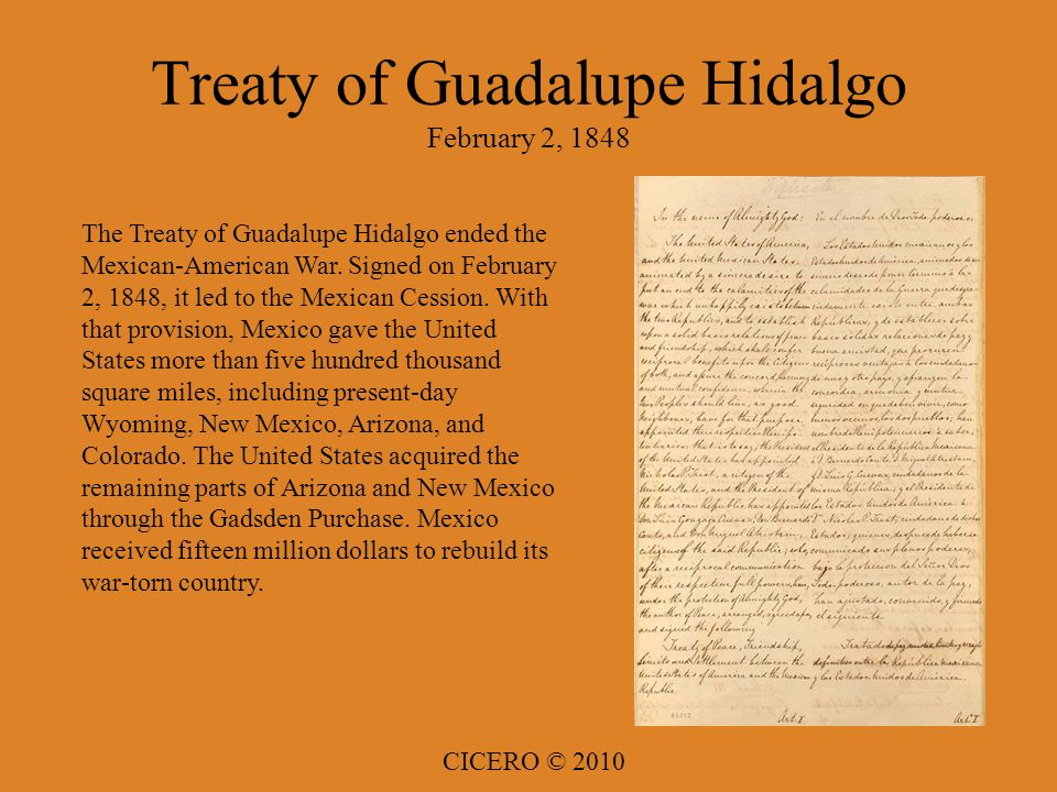 the treaty of guadalupe hidalgo Feb2,2013 treaty of guadalupe hidalgo discussion - duration: 6:49 mexicansarenatives 2,384 views 6:49 the monroe doctrine.