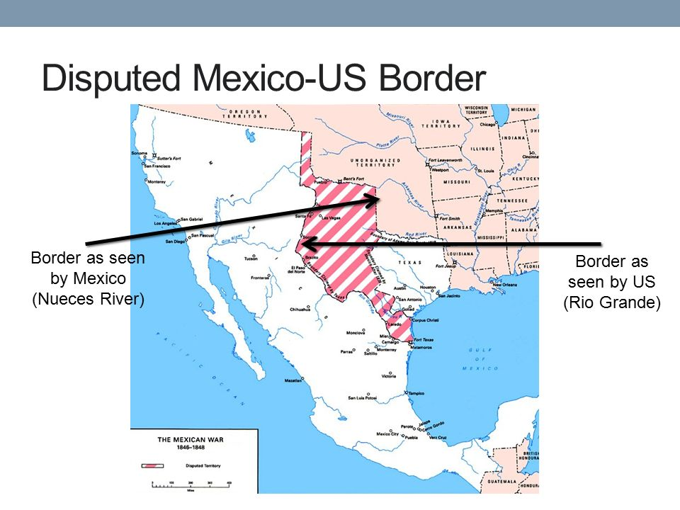 5 disputed mexico us border border as seen by mexico nueces river border as seen by us rio grande