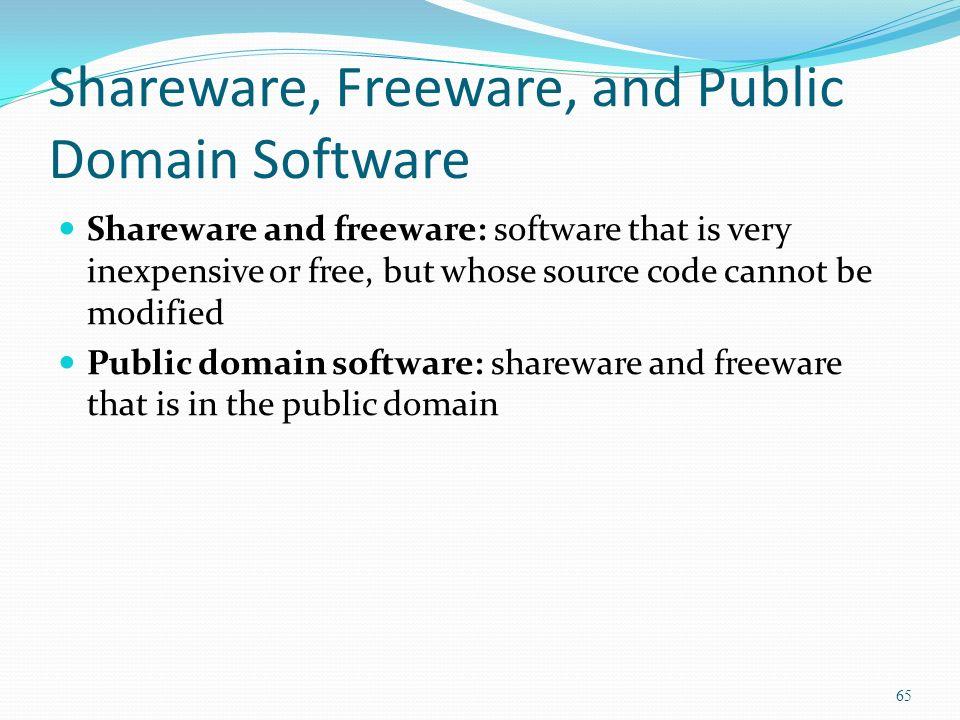 Shareware Freeware And Public Domain