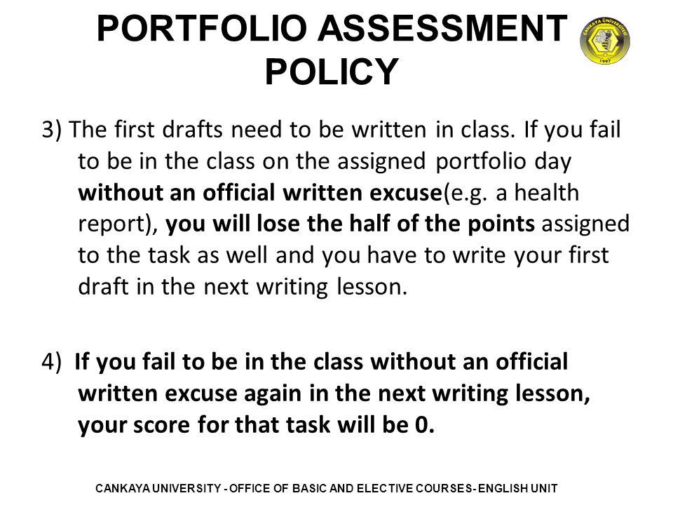 thesis portfolio assessment