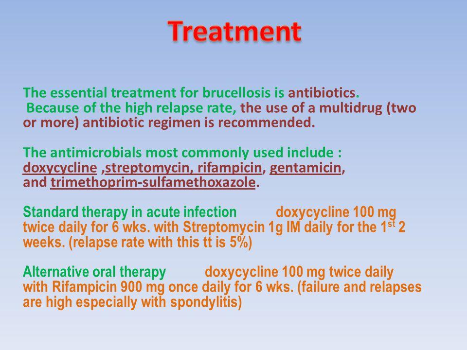 brucella treatment antibiotics