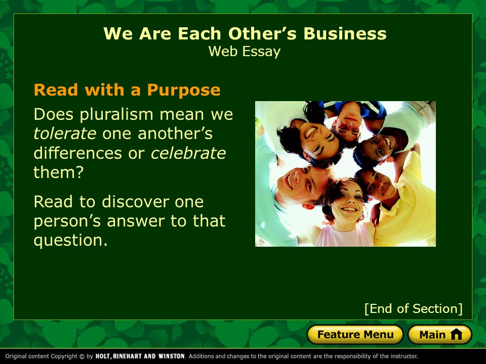 We Are Each Others Business Essay Sample - image 3