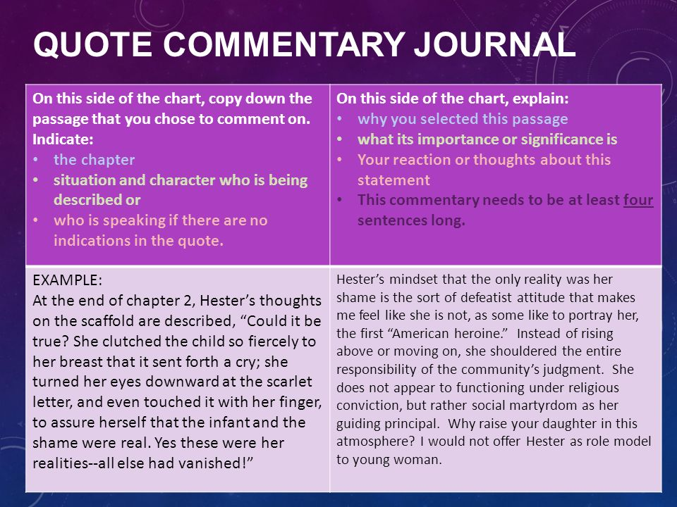 the scarlet letter journal prompts. general instructions state