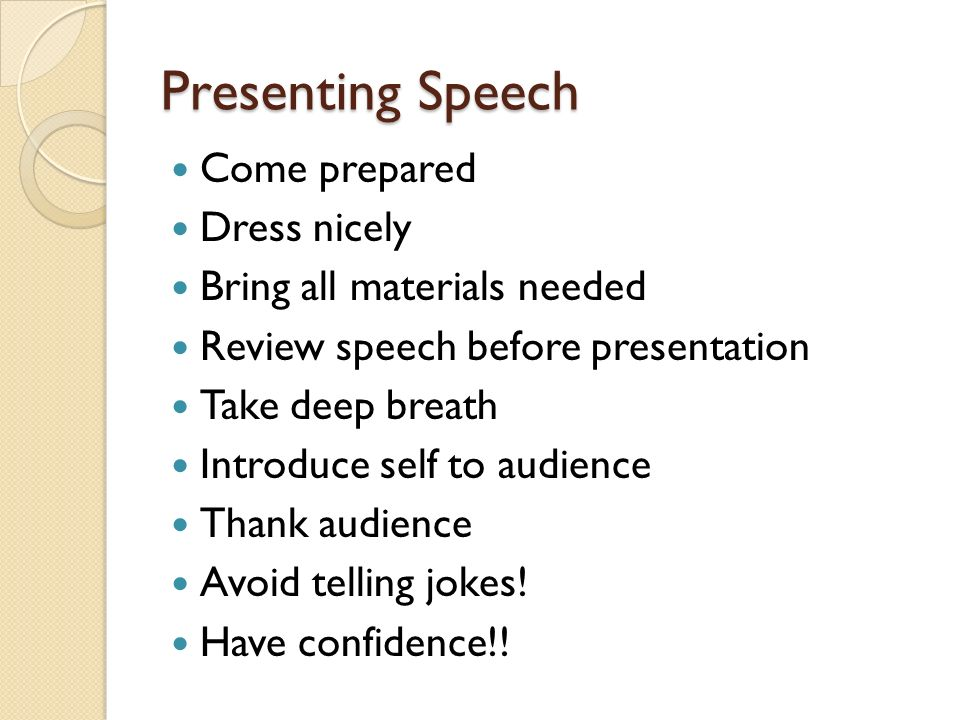 oral presentation corruption speech Measures and perceptions of liveliness in student oral presentation speech: a proposal for an automatic feedback mechanism.