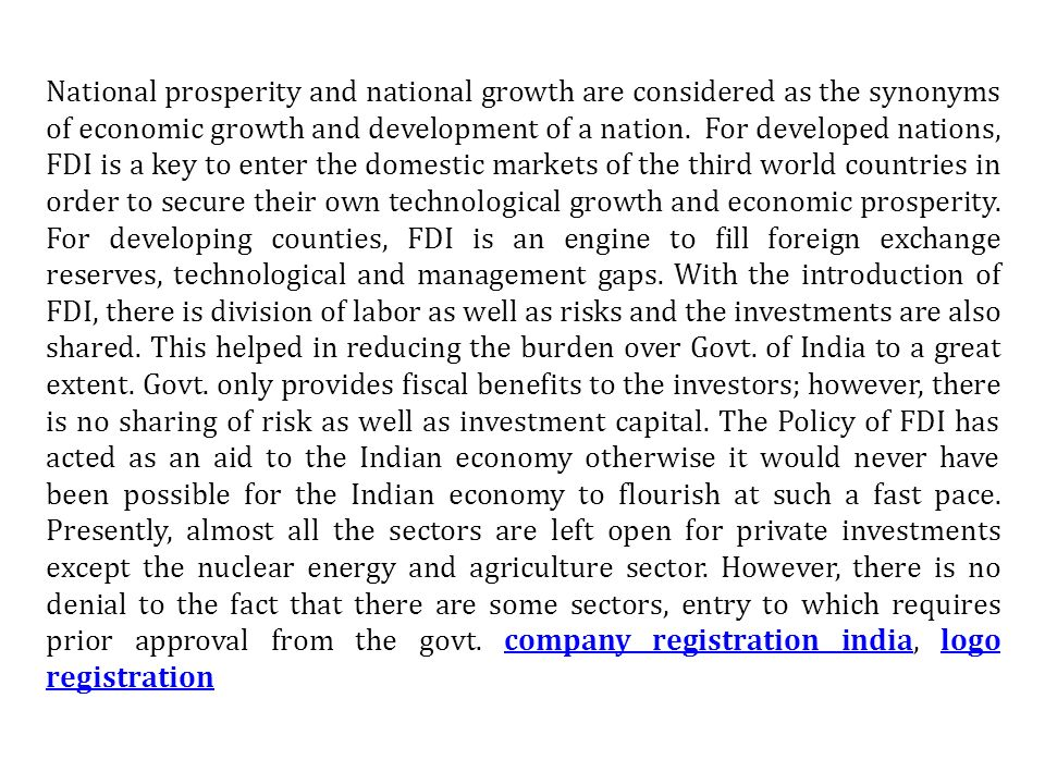 National prosperity and national growth are considered as the synonyms of economic growth and development of a nation.