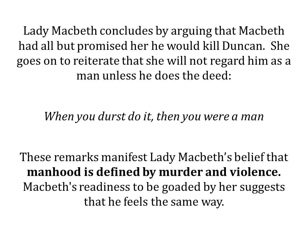 lady macbeth argumentative