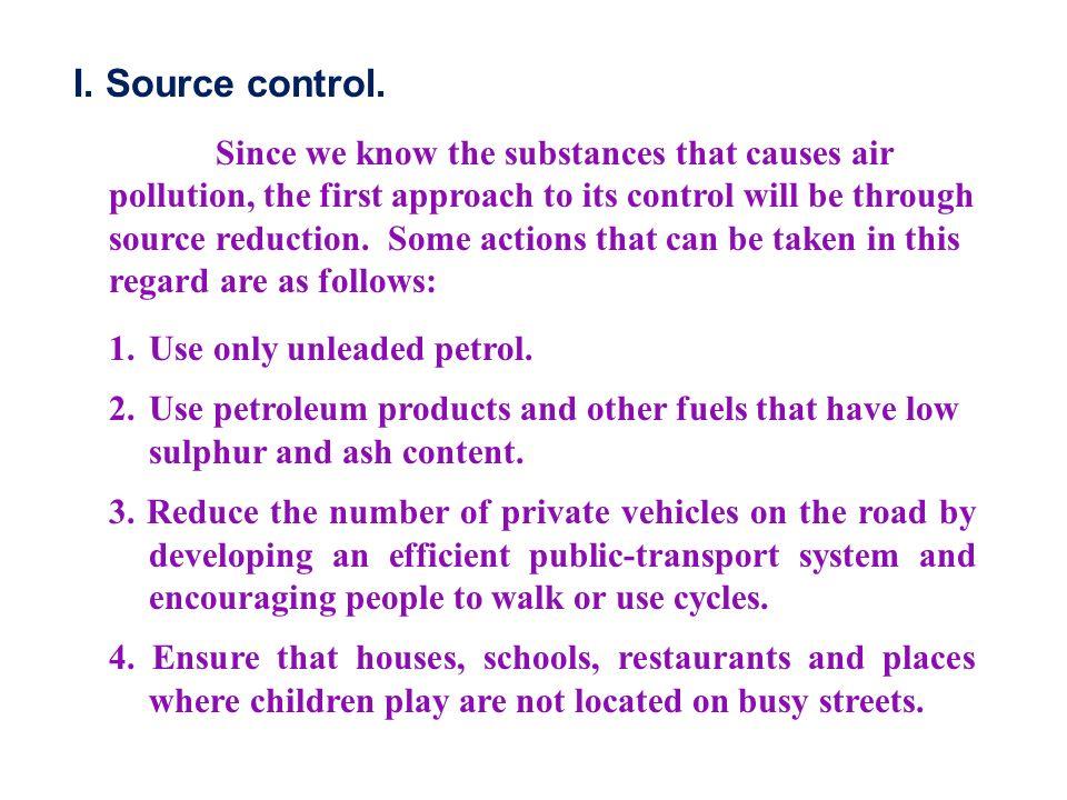I. Source control.