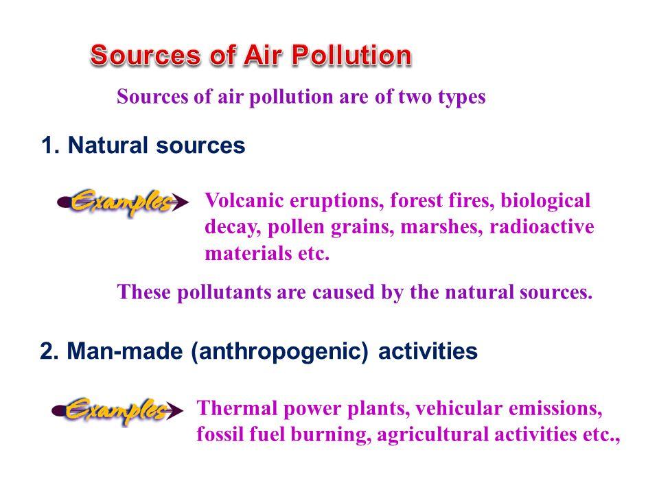 1. Natural sources 2.