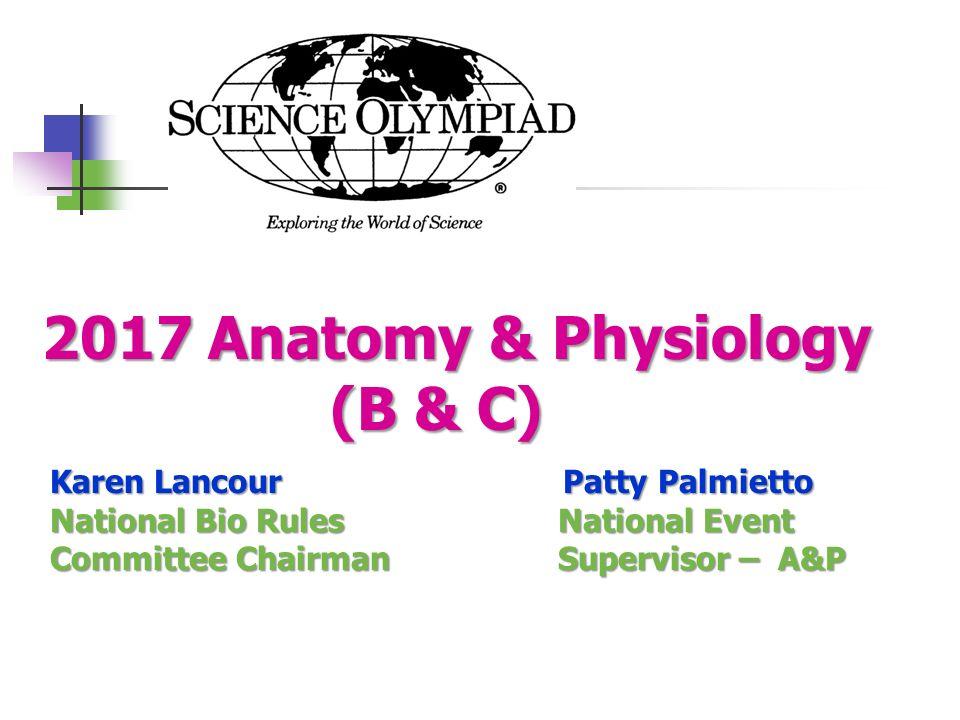 2017 Anatomy & Physiology (B & C) Karen Lancour Patty Palmietto ...